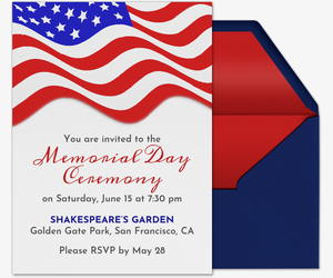 Memorial day party clipart picture free library Free Memorial Day Online Invitations | Evite picture free library