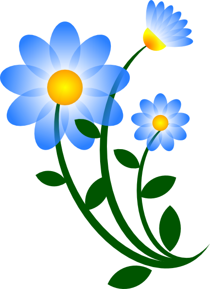 Memorial flowers clipart picture freeuse Blue Flower Clip Art at Clker.com - vector clip art online, royalty ... picture freeuse