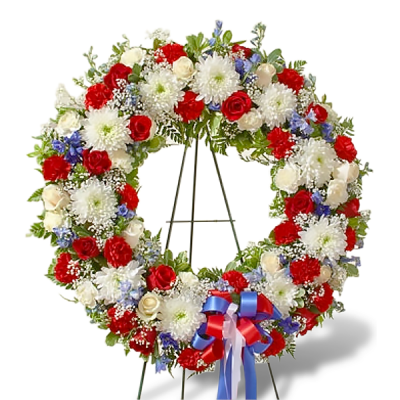Memorial wreath clipart vector library library Serene Blessings Standing Funeral Wreath PNG - DLPNG.com vector library library