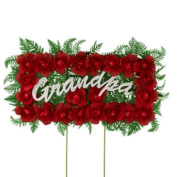 Memorial wreath clipart picture royalty free library Red Grandpa Memorial Sign | Memorial Signs | Funeral flowers ... picture royalty free library