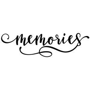 Memories clipart black and white clip art transparent download Silhouette Design Store - View Design #158182: memories word   SVGs ... clip art transparent download