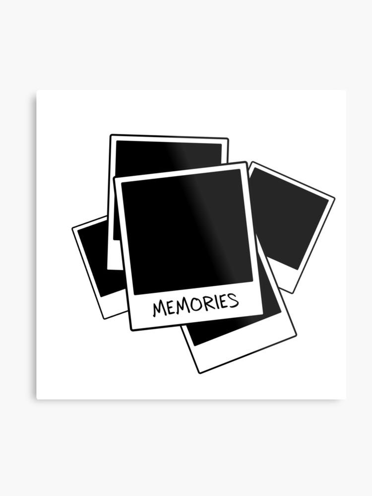 Memories clipart black and white freeuse stock Memories - Polaroid Graphic Design   Metal Print freeuse stock
