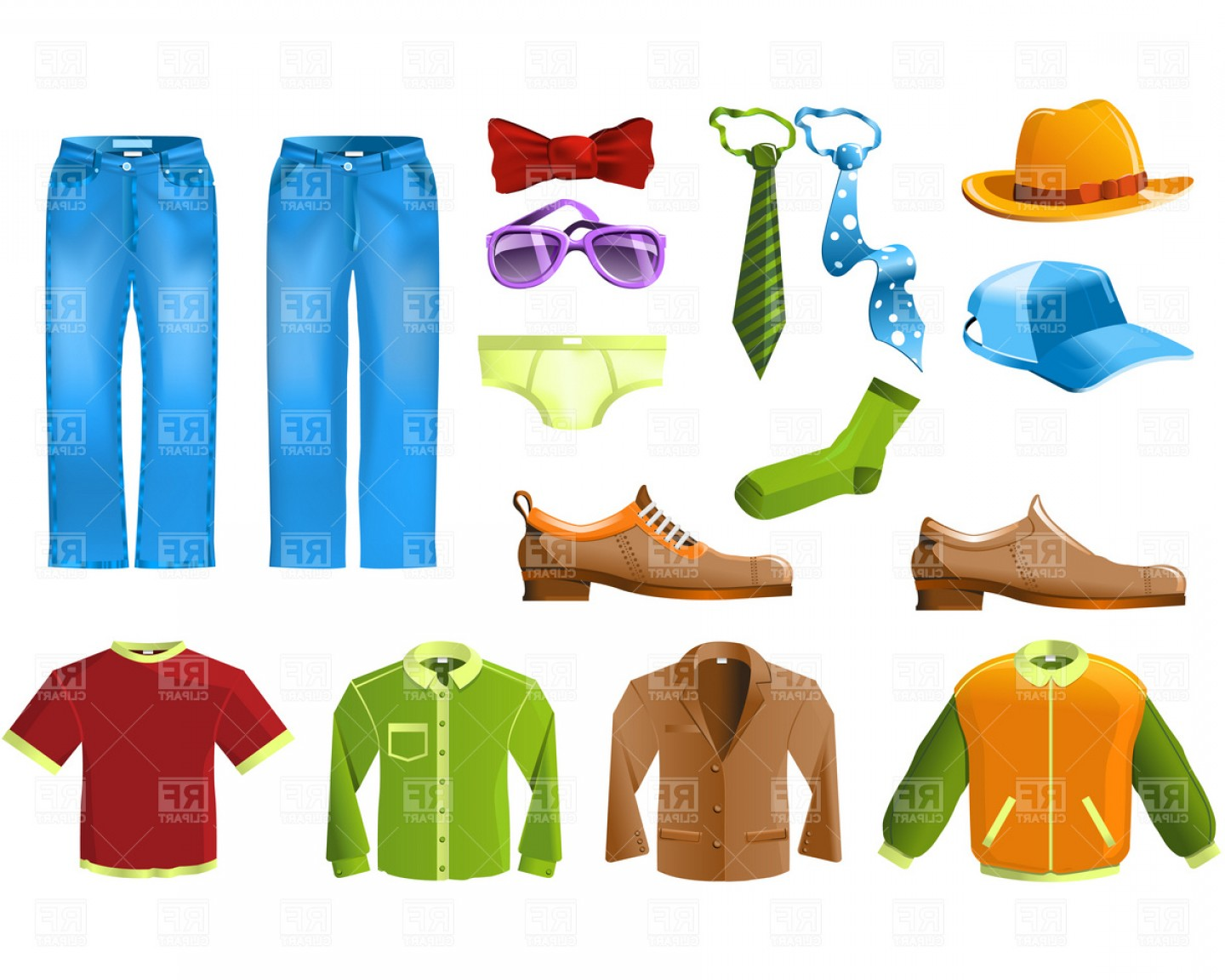 Men s clothing clipart picture transparent download Mens Clothing And Accessories Vector Clipart   SOIDERGI picture transparent download