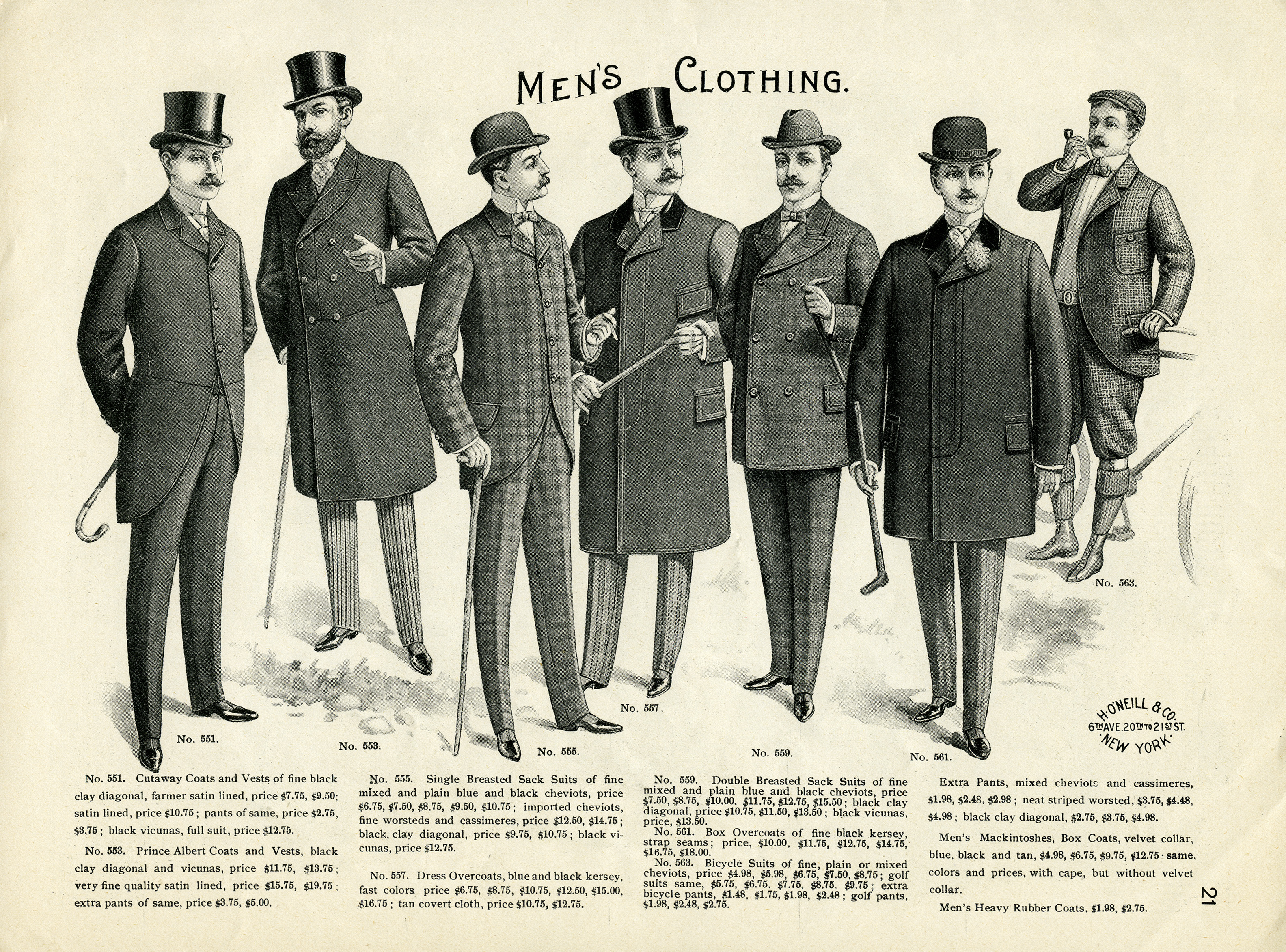 Men s clothing clipart vector freeuse download Vintage Men\'s Clothing Catalogue Page and Clip Art ~ Free Download ... vector freeuse download