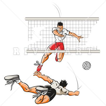 Men s volleyball clipart png library stock Pin by Rivalart.com on Volleyball Clip Art | Volleyball players, Man ... png library stock