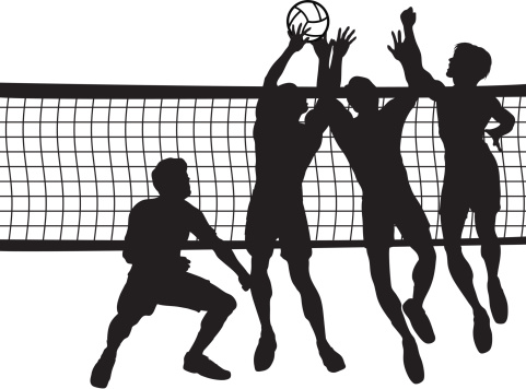 Men s volleyball clipart jpg freeuse library Indoor Volleyball Cliparts - Cliparts Zone jpg freeuse library