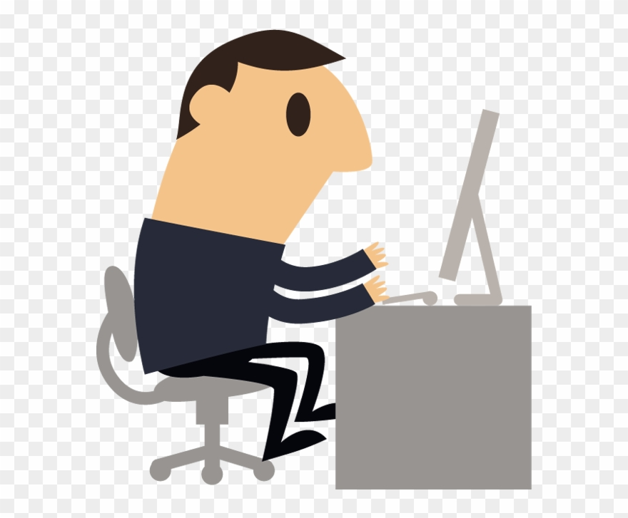 Man working cliparts clip art freeuse Cartoon Business Man Working With Computer - Cartoon Man At Computer ... clip art freeuse