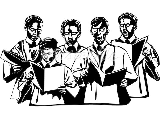 Men s choir clipart clipart black and white stock Free Men\'s Chorus Cliparts, Download Free Clip Art, Free ... clipart black and white stock