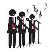 Men s choir clipart clip art black and white stock Free Men\'s Chorus Cliparts, Download Free Clip Art, Free ... clip art black and white stock