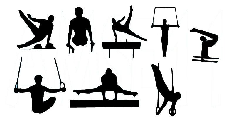 Mens gymnastics clipart graphic download Male Gymnast Gymnastics Silhouette Die Cut Files by ... graphic download