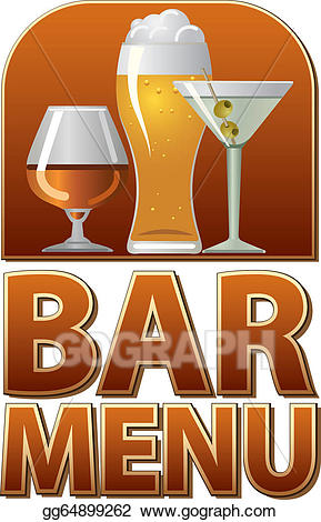 Menu bar clipart clipart library Vector Art - Bar menu sign. EPS clipart gg64899262 - GoGraph clipart library