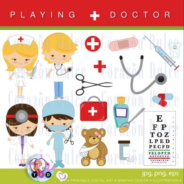 Mercado pago clipart graphic library stock Kit Imprimible Clipart Imagenes Doctor Medico Enfermera Png graphic library stock