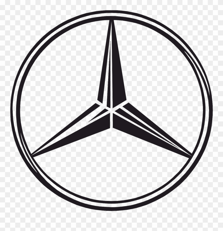 Mercedes logos clipart banner free Download Free png Mercedes Benz Stern Clipart Stiker ... banner free