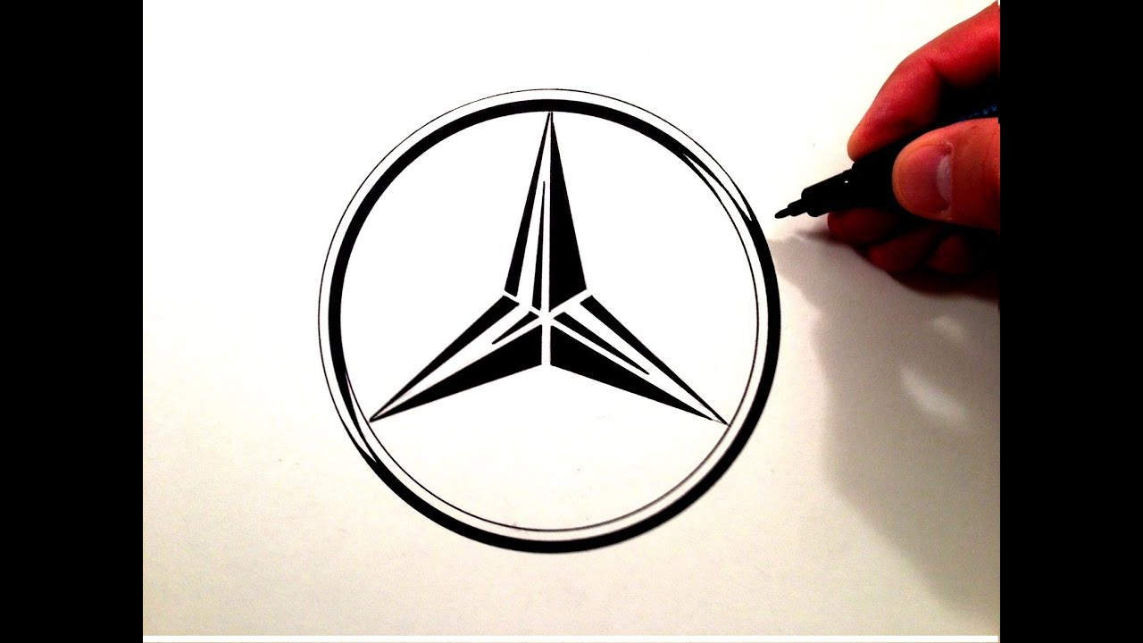 Mercedes me logo clipart clip free download How to Draw the Mercedes Benz Symbol clip free download