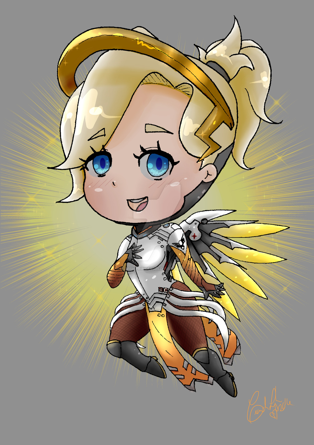 Mercy clipart overwatch jpg freeuse library Overwatch Mercy Chibi by Elvishprincess25 on DeviantArt jpg freeuse library