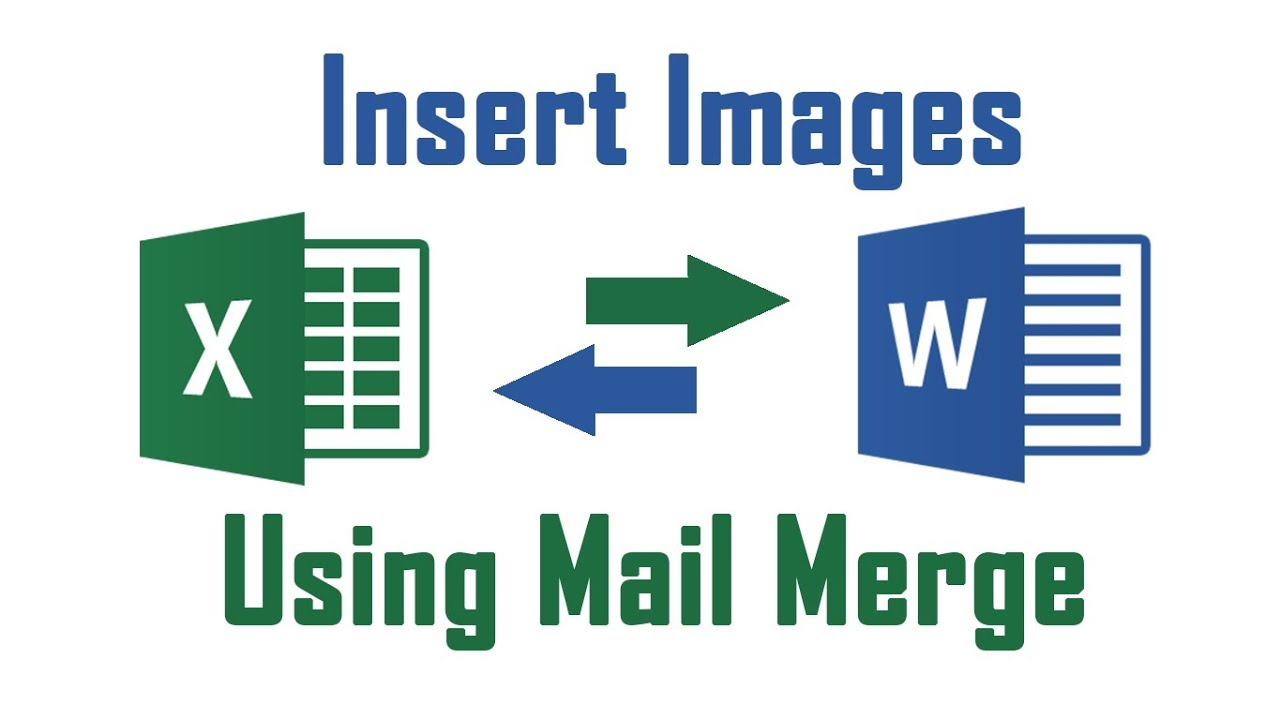 Merge clipart online vector Insert Image Using Mail Merge From Excel to Word Document vector