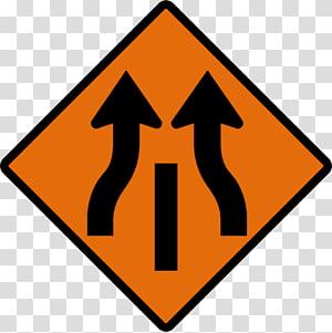 Merge clipart online banner stock Traffic sign Lane Merge Warning sign, Traffic Signs ... banner stock