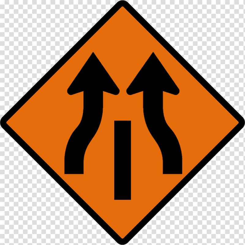 Merge sign clipart clipart black and white stock Warning sign Lane Merge Road, Road Sign transparent ... clipart black and white stock