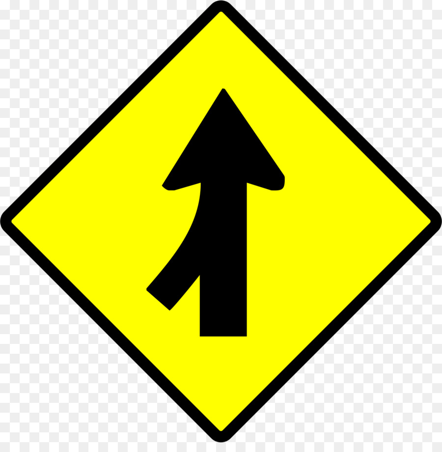 Merge sign clipart graphic black and white Road Sign Arrow png download - 1141*1142 - Free Transparent ... graphic black and white