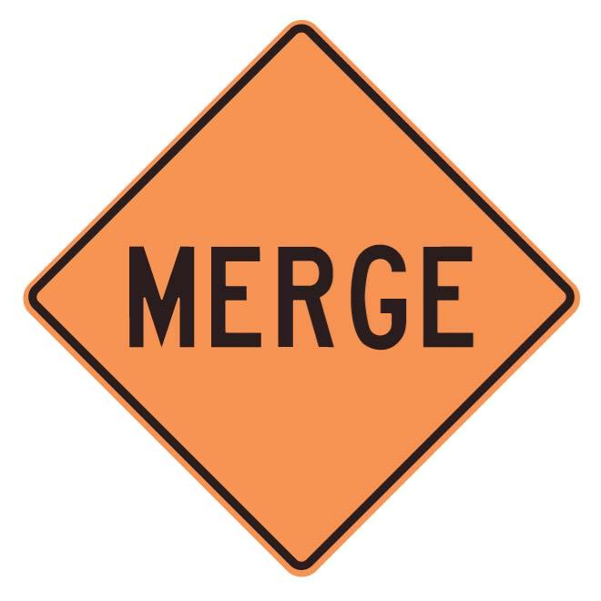 Merge sign clipart graphic library library MERGE WARNING SIGN - Free vector image in AI and EPS format. graphic library library