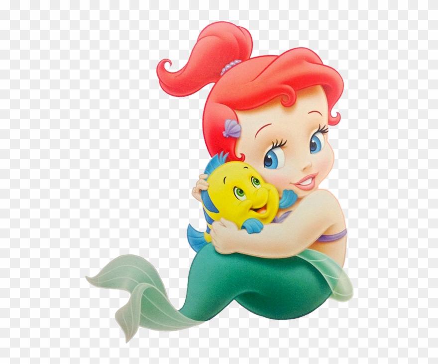 Mermaid baby clipart svg black and white Baby Clipart Little Mermaid - Png Download (#1704844 ... svg black and white