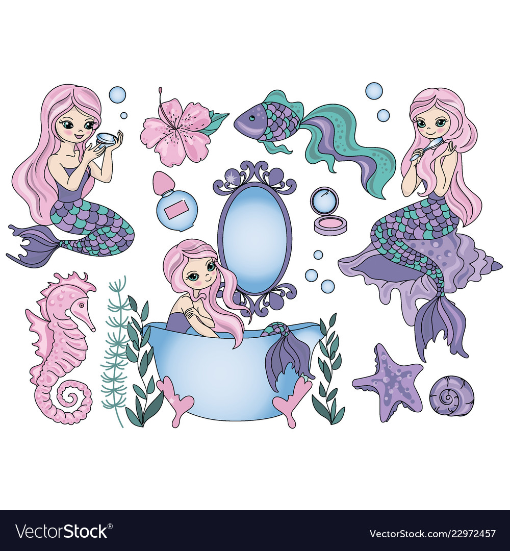 Mermaid clipart pictures png freeuse download Purple mermaid sea travel clipart color png freeuse download