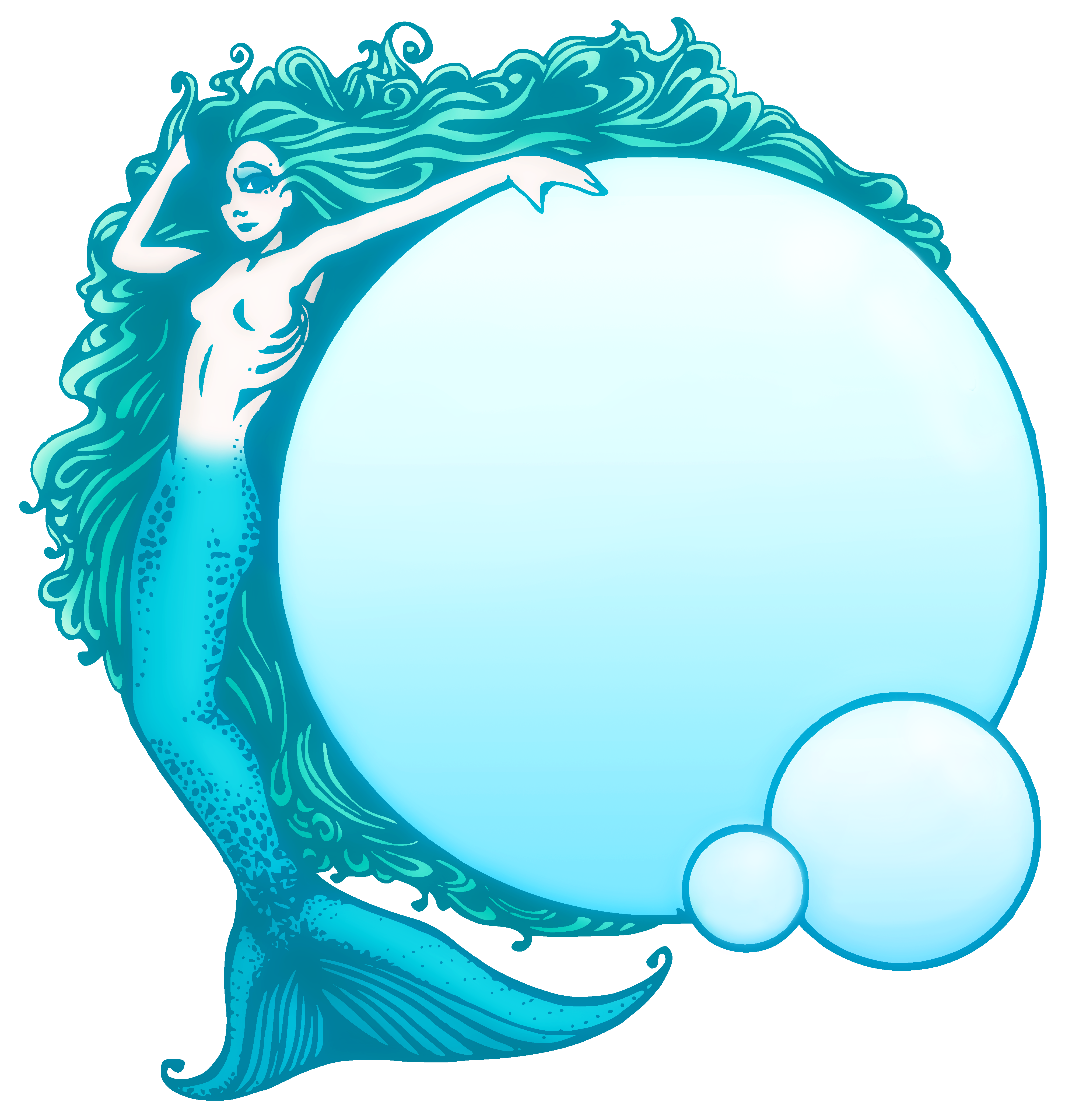 Mermaid clipart with fish png royalty free stock Mermaid Public Domain Clipart - Free Clip Art png royalty free stock