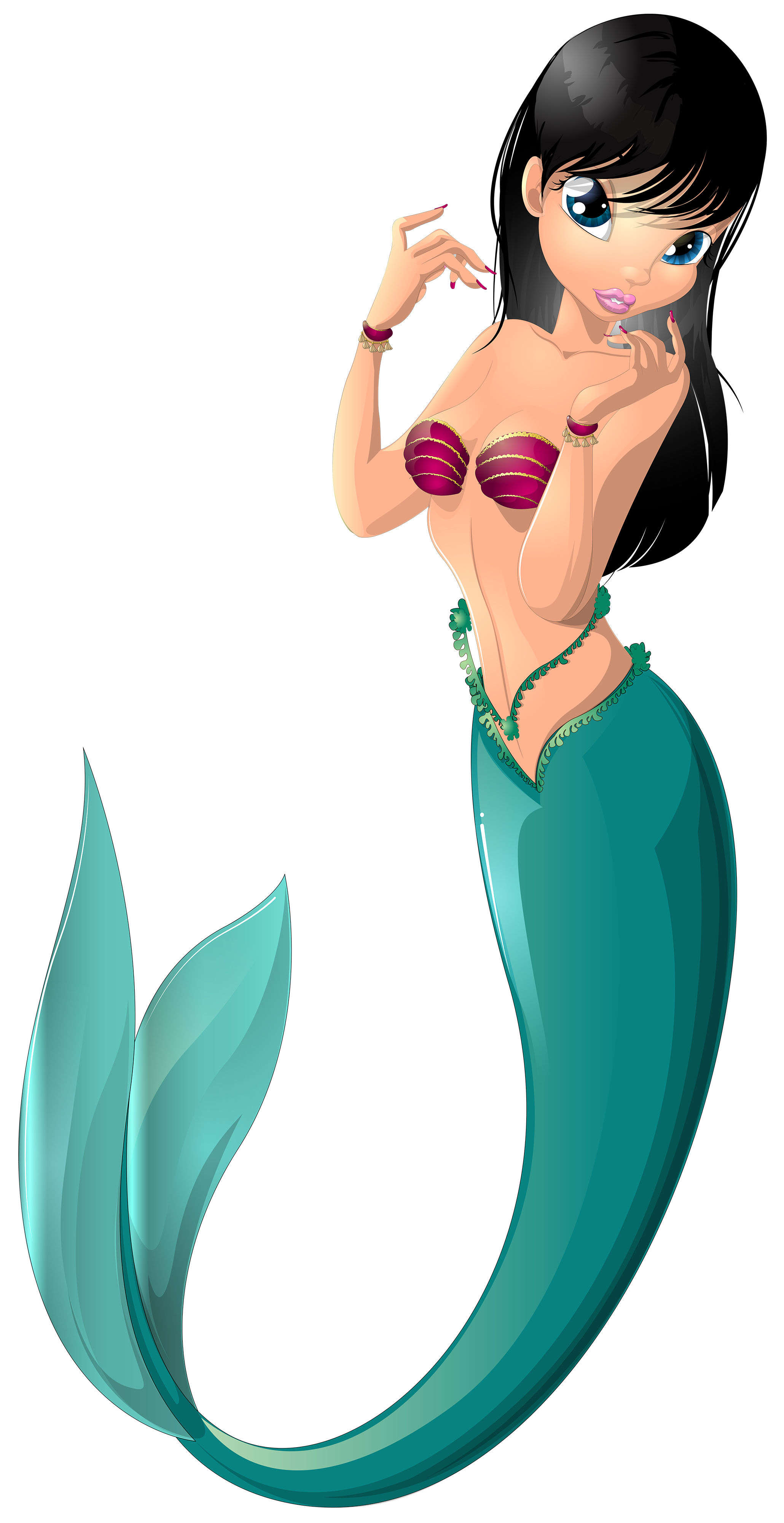 Mermaid clipart with fish banner transparent download Mermaid PNG Transparent Free Images | PNG Only banner transparent download