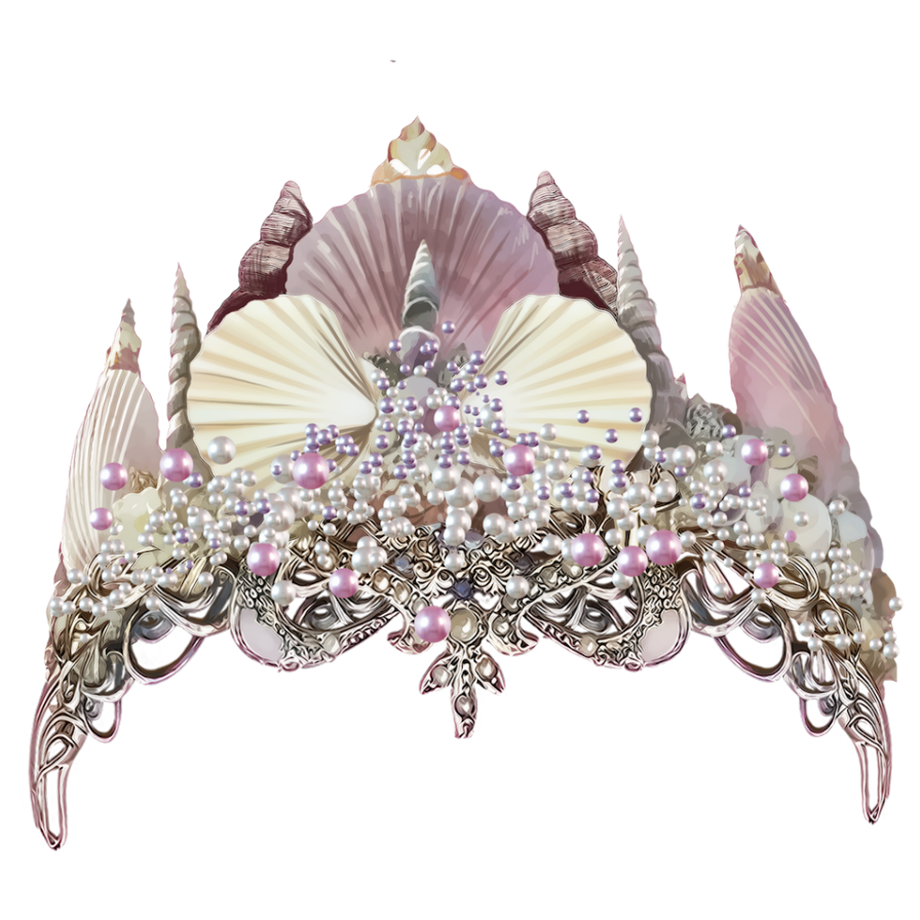 Mermaid crown clipart clip free library mermaid crown - Sticker by Purrzxlla clip free library