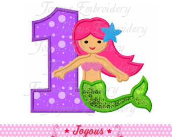 Mermaid number 1 clipart image free Mermaid number | Etsy image free