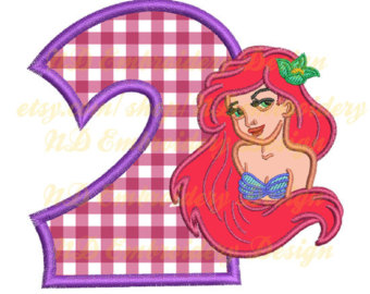 Mermaid number 1 clipart picture freeuse Mermaid 2nd birthday – Etsy picture freeuse