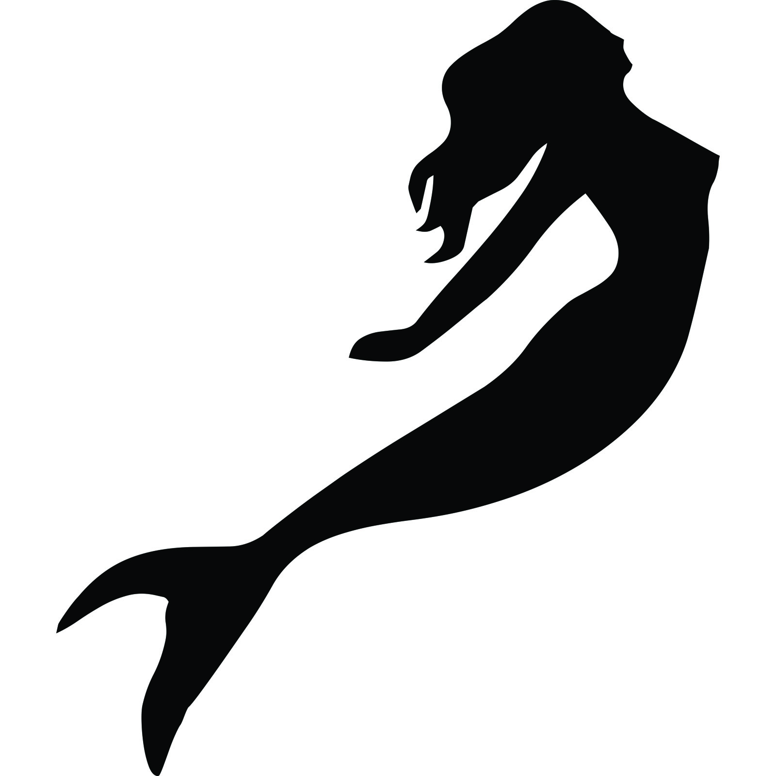 Mermaid silhouette clipart picture black and white Free Mermaid Silhouette, Download Free Clip Art, Free Clip ... picture black and white