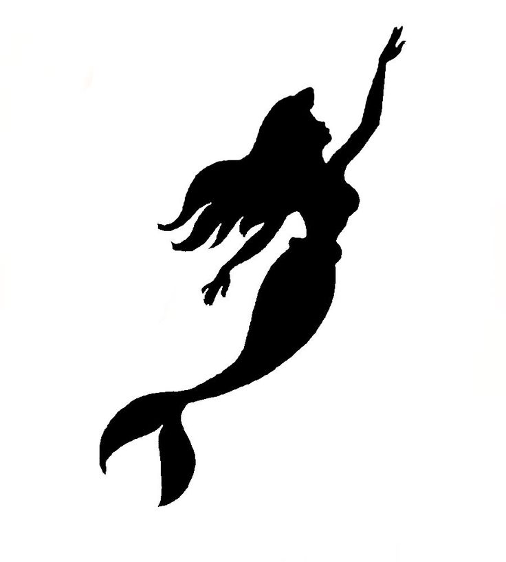 Mermaid silhouette clipart png library stock Free Printable Mermaid Silhouette, Download Free Clip Art ... png library stock