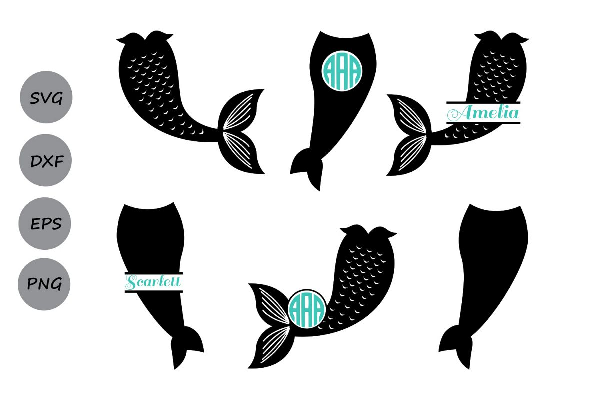 Mermaid silhouette clipart graphic stock Mermaid Tail SVG, Mermaid Monogram SVG, Mermaid Svg, Mermaid Tail Clipart,  Fish Svg, Mermaid Silhouette, Cricut Files, svg, dxf, eps, png. graphic stock