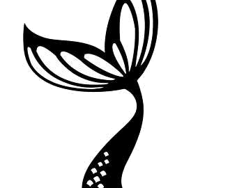 Mermaid tail silhouette clipart clip black and white download Mermaid Tail At Getdrawings Com Free For Personal Silhouette ... clip black and white download