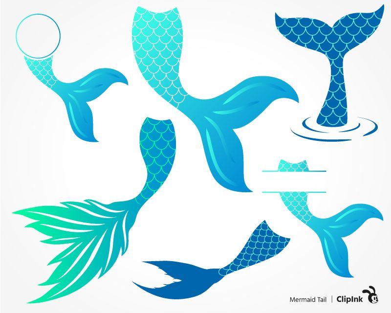 Mermaid tails clipart clip art MERMAID TAIL | svg, png, eps, dxf, pdf | J | Mermaid clipart ... clip art