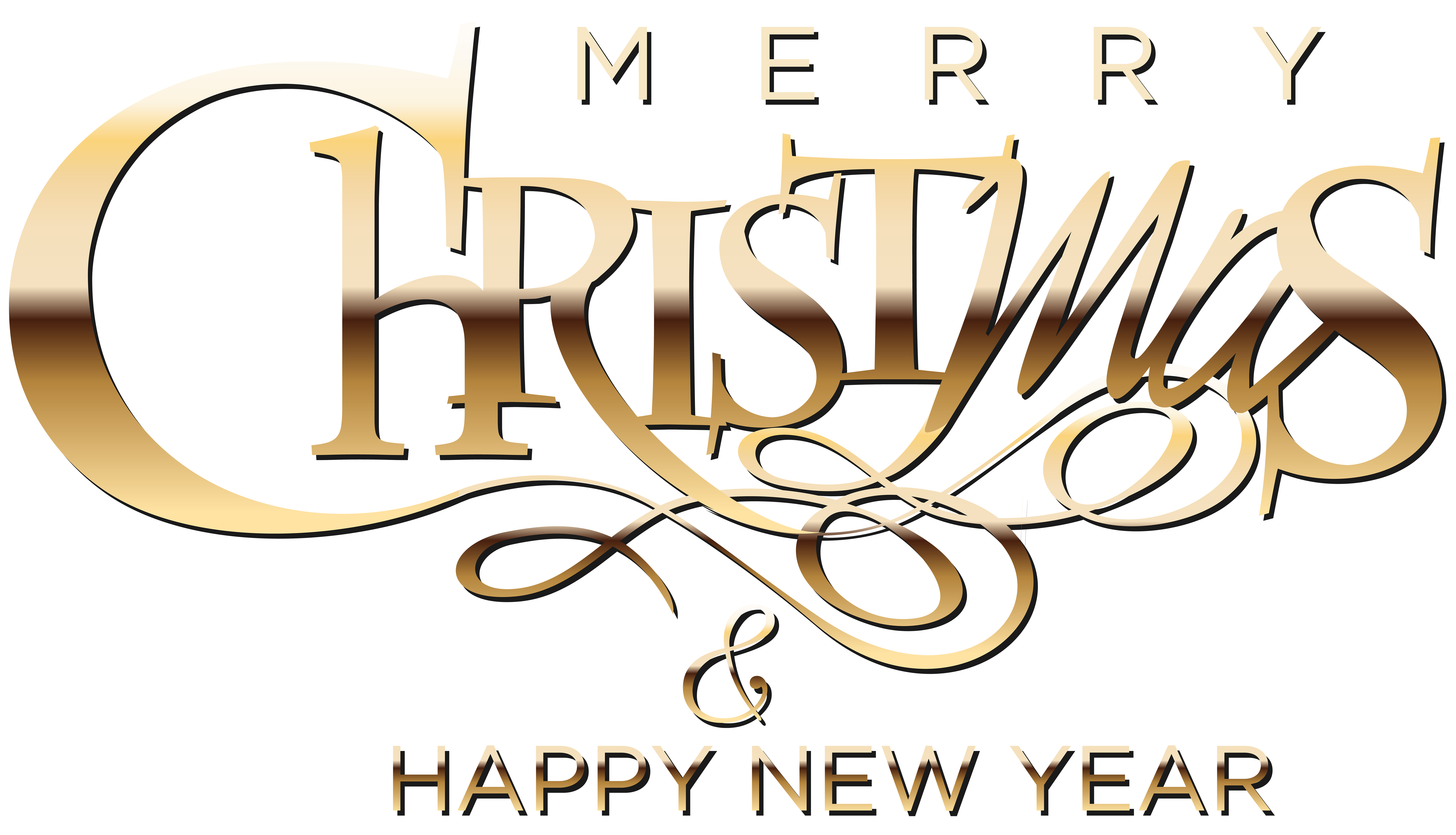 Merry christmas and happy new year clipart clip art free library Merry Christmas and Happy New Year Clip Art Image   Gallery ... clip art free library