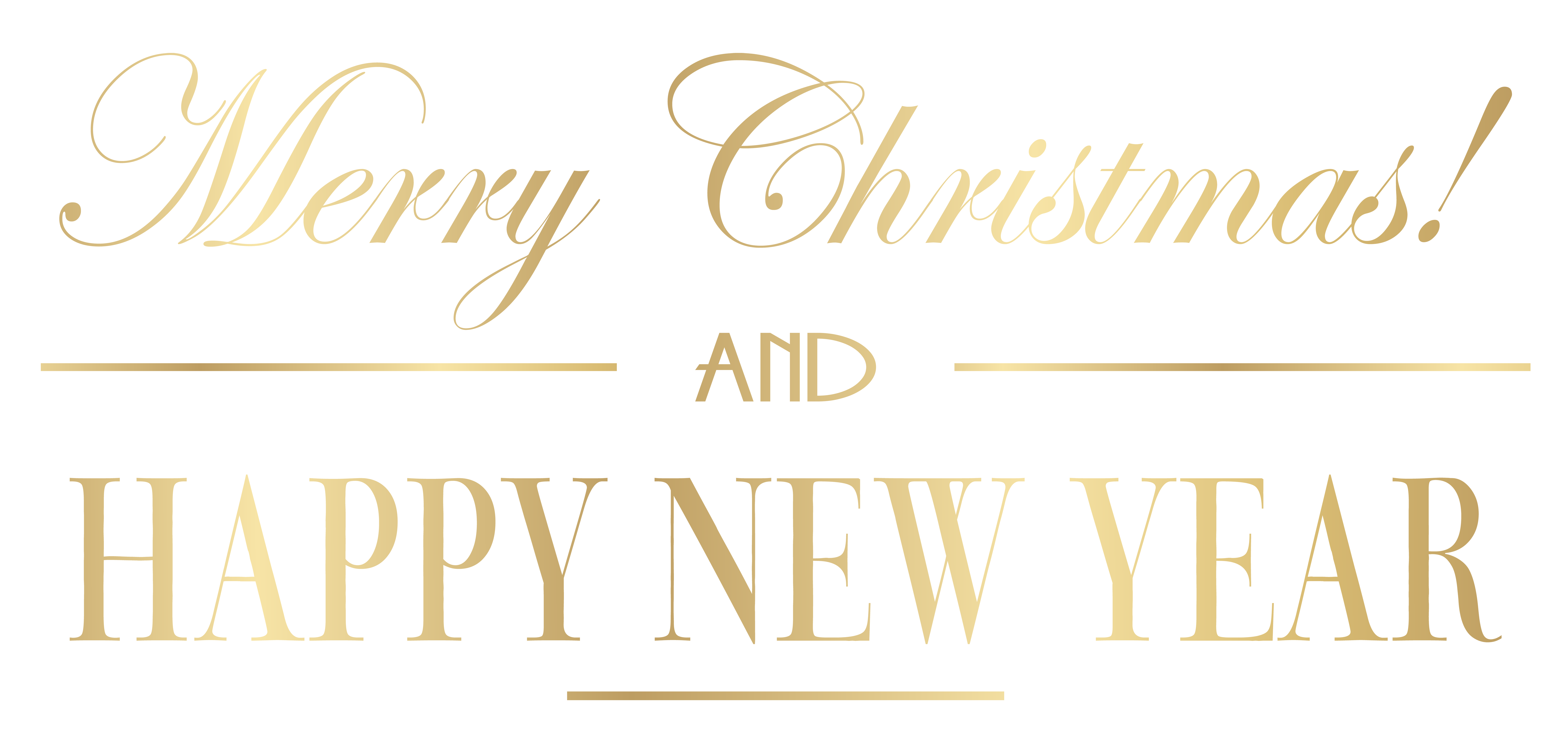 Merry christmas and happy new year clipart free vector black and white library Merry Christmas and Happy New Year PNG Clip Art Image | Gallery ... vector black and white library