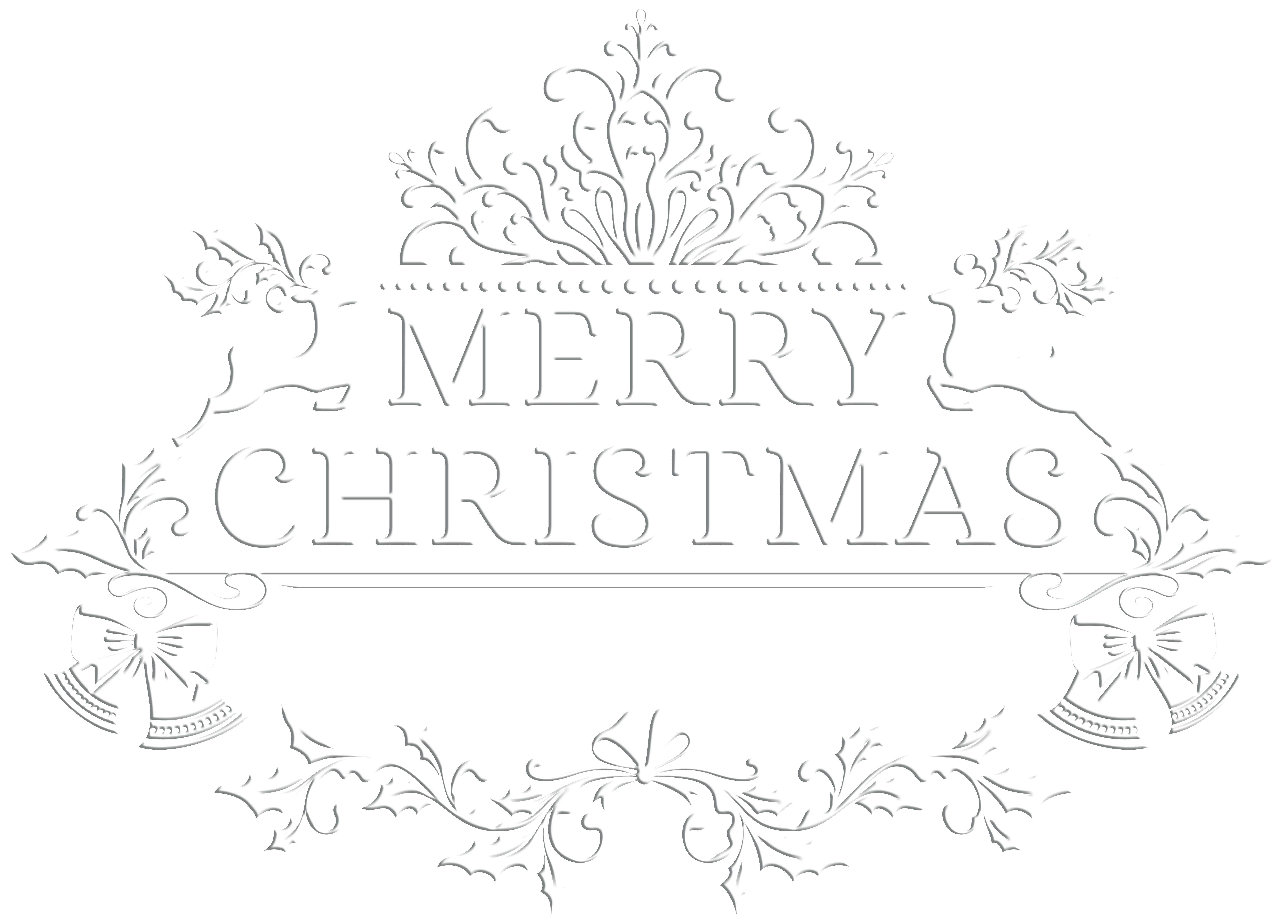 Merry christmas clipart black and white clip free library Merry Christmas White Transparent PNG Clip Art Image | Gallery ... clip free library