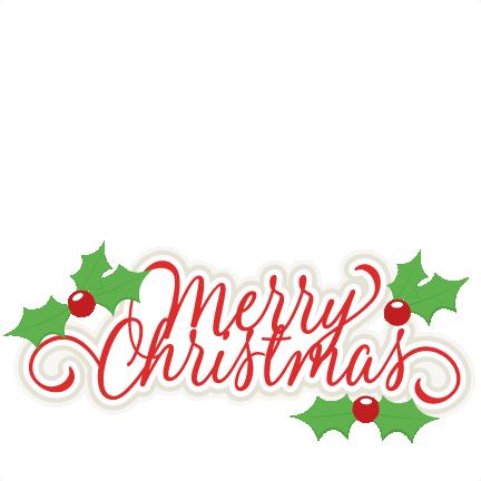 Merry christmas clipart file clip art stock Merry Christmas Title SVG scrapbook cut file cute clipart ... clip art stock