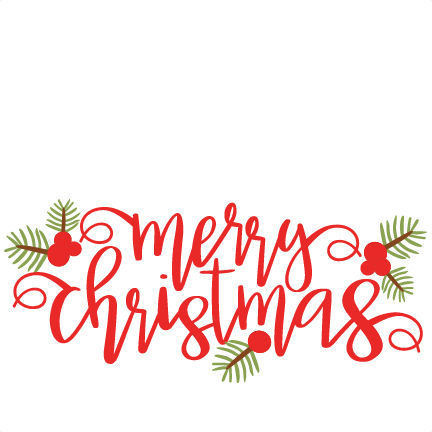 Merry christmas clipart file banner transparent library Merry Christmas Phrase SVG scrapbook cut file cute clipart ... banner transparent library