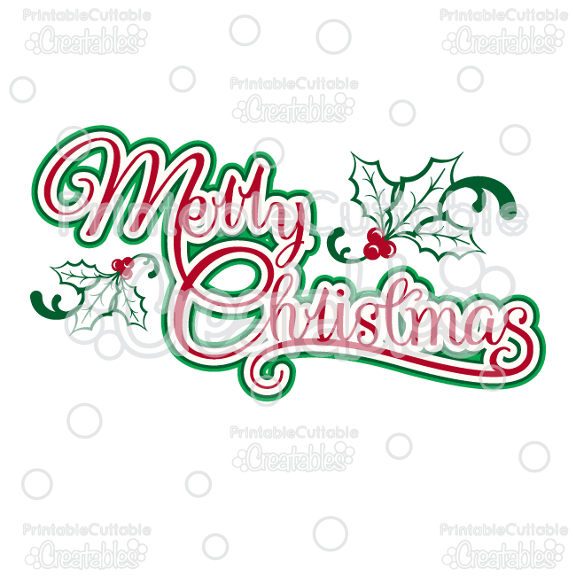 Merry christmas clipart file jpg black and white Merry Christmas Title SVG Cutting File & Clipart jpg black and white