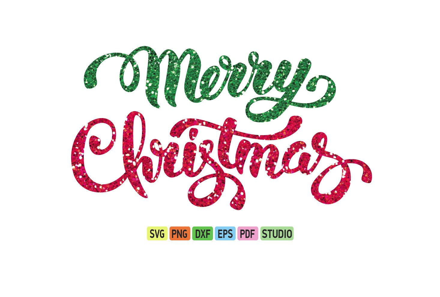 Merry christmas clipart file graphic download Merry Christmas Glitter SVG, Christmas SVG file, Christmas ... graphic download