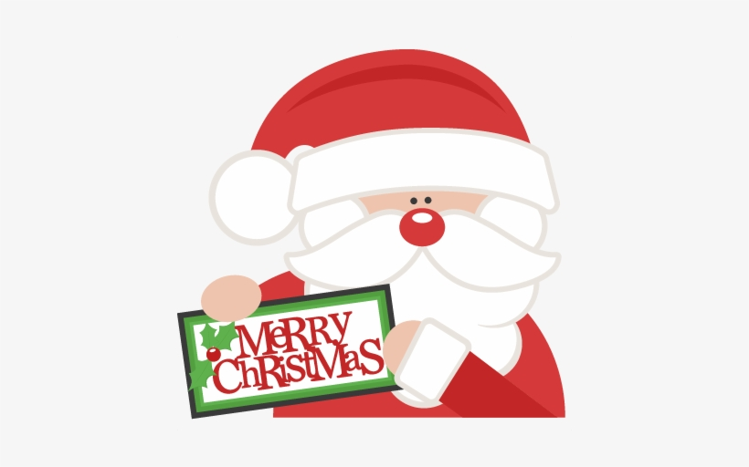 Merry christmas clipart file vector transparent Merry Christmas Santa Svg Scrapbook Cut File Cute Clipart ... vector transparent