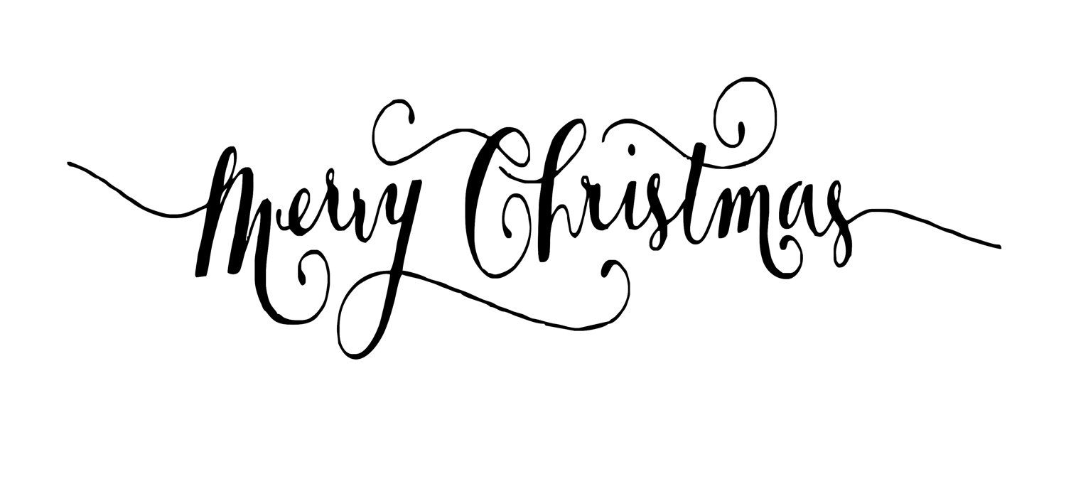 Merry christmas font clipart clipart free stock Black and White Merry Christmas Font | Fancy Handwriting ... clipart free stock