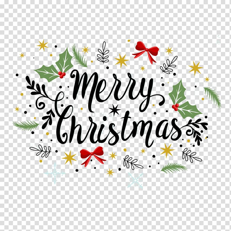 Merry christmas greetings clipart