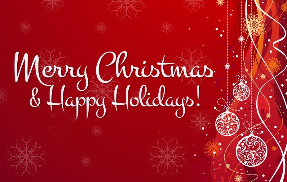 Merry christmas happy holidays clipart