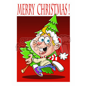 Merry christmas kids clipart graphic free stock merry christmas kid getting a christmas tree clipart. Royalty-free clipart  # 393378 graphic free stock
