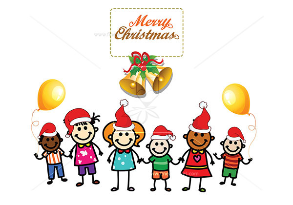 Merry christmas kids clipart clip black and white download Kids Wishing Merry Christmas | Free vectors, illustrations ... clip black and white download