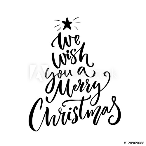 Merry christmas overlay clipart vector royalty free library We wish you a Merry Christmas typography. Greeting card text ... vector royalty free library